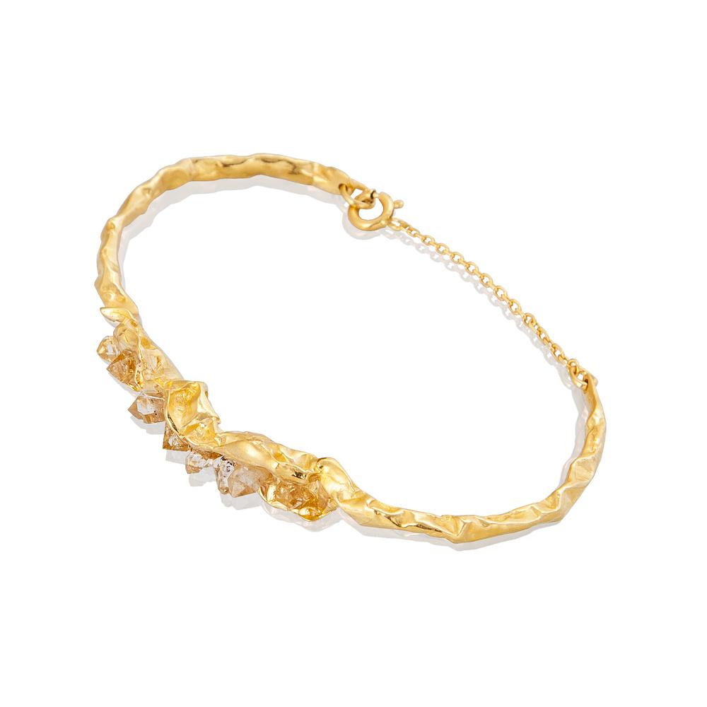 Niza Huang: Crush Statement Bracelet - Gold | Jewelry > Bracelets,Jewelry -  Hiphunters Shop