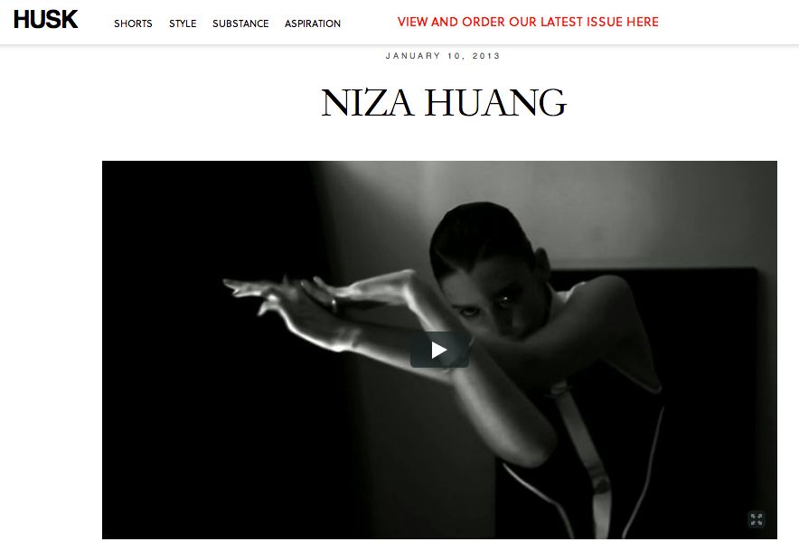 An interview at HUSK magazine : http://huskmagazine.com/  post/40176409123/niza-huang