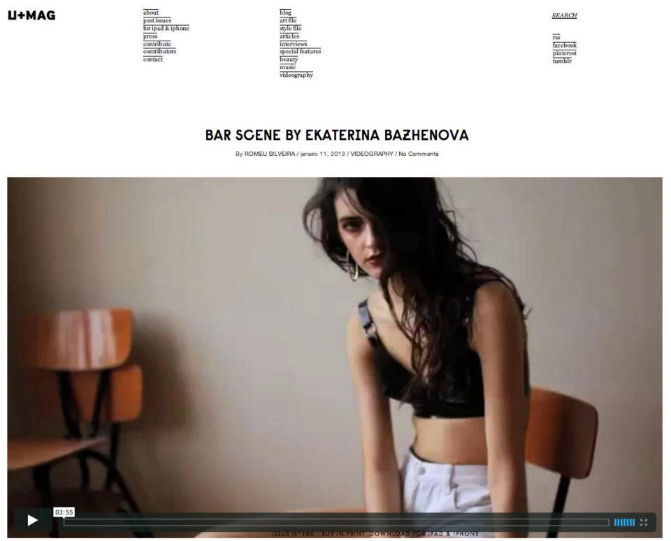 Our jewellery are in an inspirational video by Ekaterina Bazhenova at U+MAG http://umagmag.com/2013/  01/  bar-scene-by-ekaterina-bazh  enova/