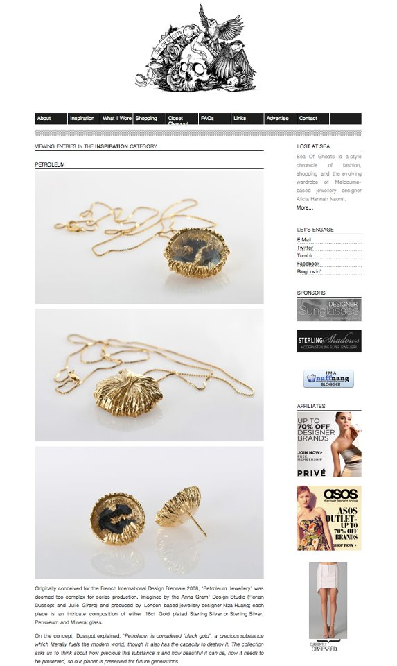 On top Australian influential fashion blog Sea of Ghost:  http://  www.seaofghosts.com/2012/  02/petroleum/