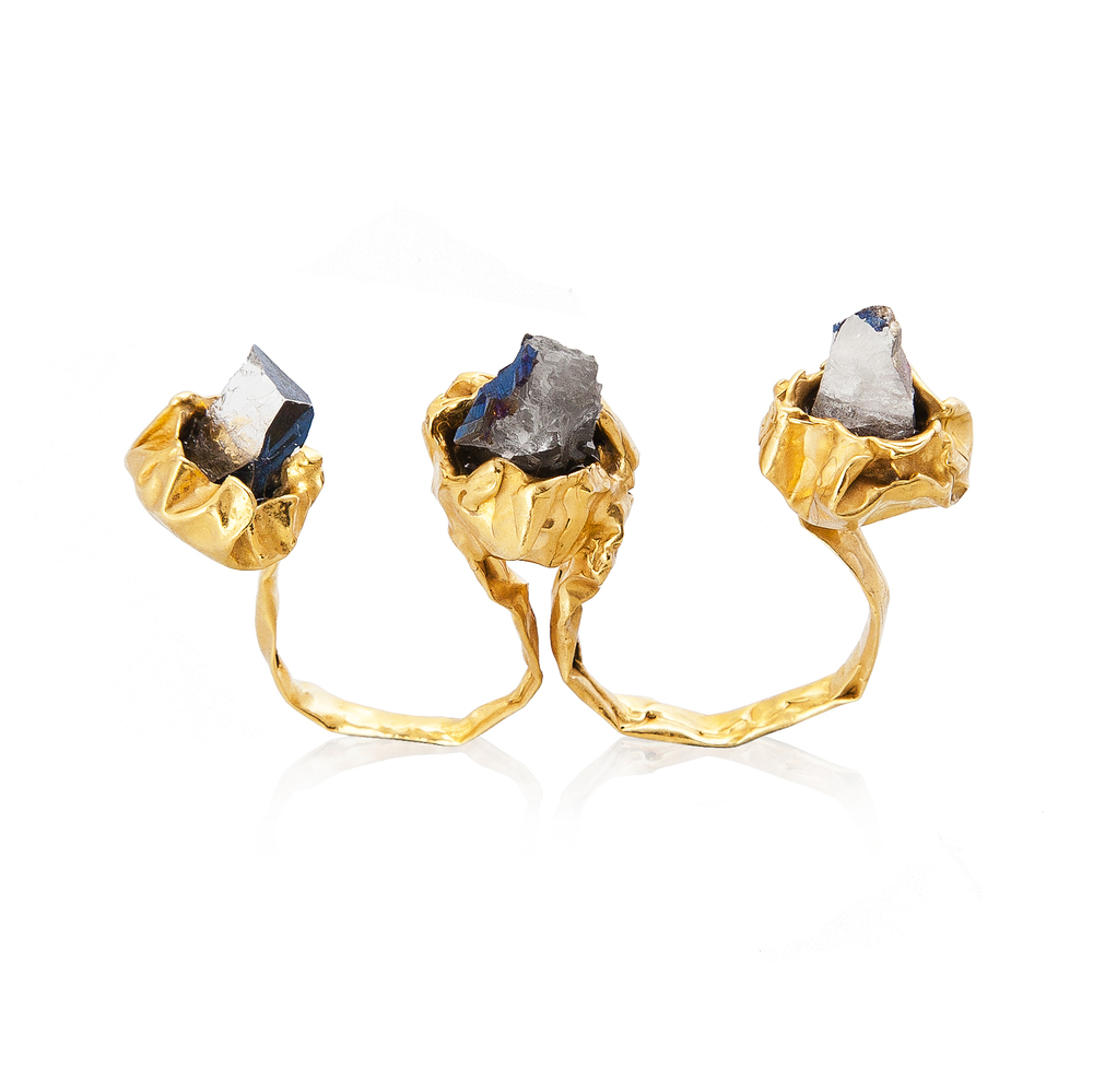 Niza Huang: Crush 2 Fingers Ring | Jewelry > Rings,Jewelry -  Hiphunters Shop