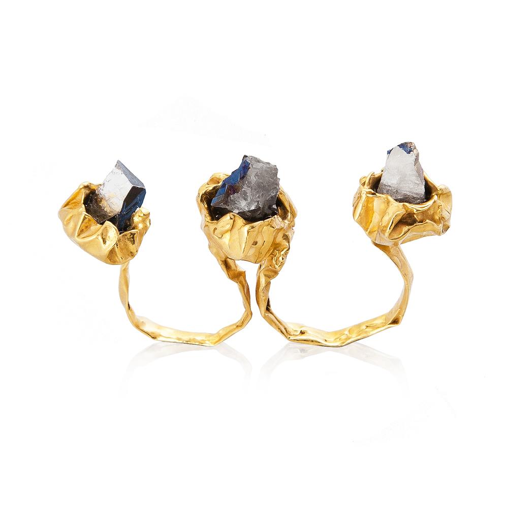 Crush 2 Fingers Ring - Gold