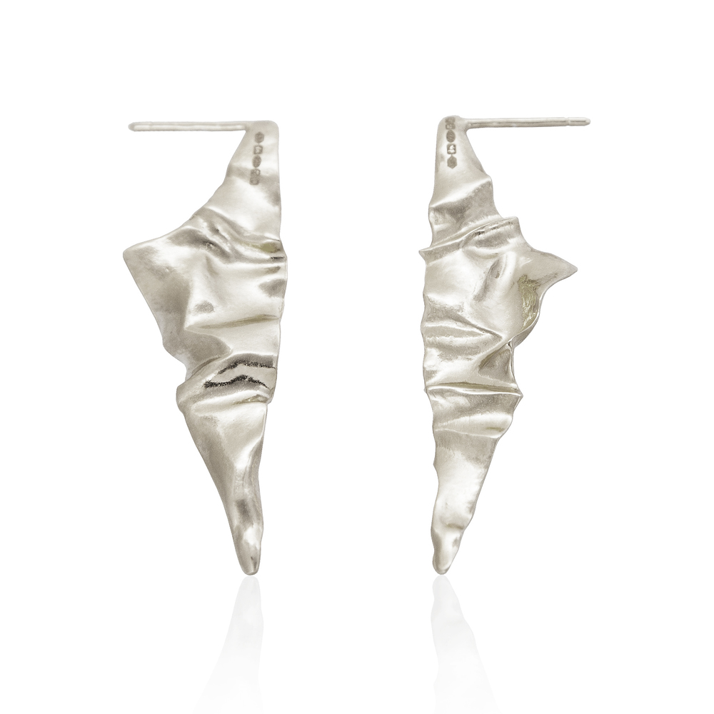 Crush Triangular Earrings - Silver