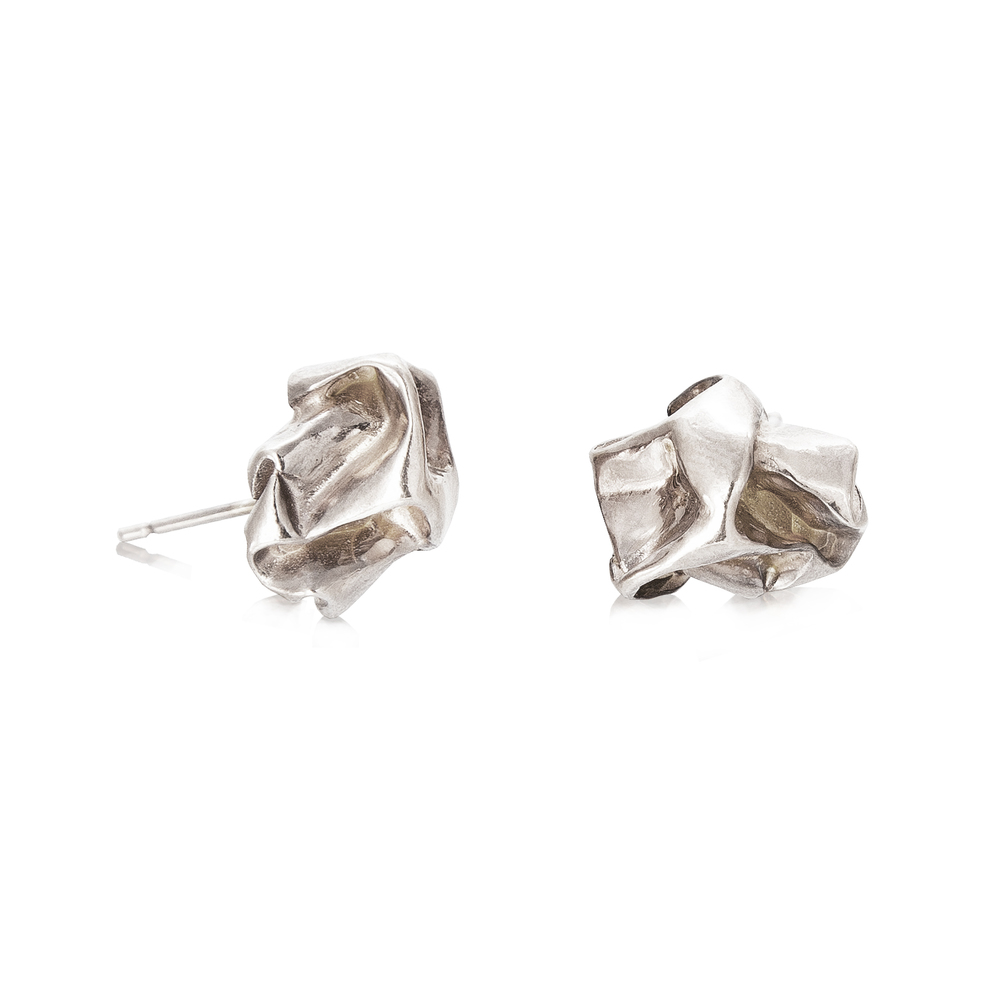 Niza Huang: Crush Plain Studs - Silver | Jewelry > Earrings,Jewelry -  Hiphunters Shop