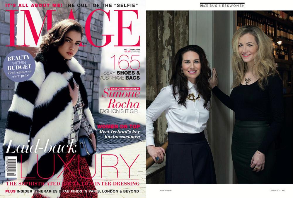 Coldlilies founders Ciara & Kim feature in Image Magazine Ireland's October issue Most Inspiring Business Women. Kim is wearing Niza Huang CRUSH hoop earrings.