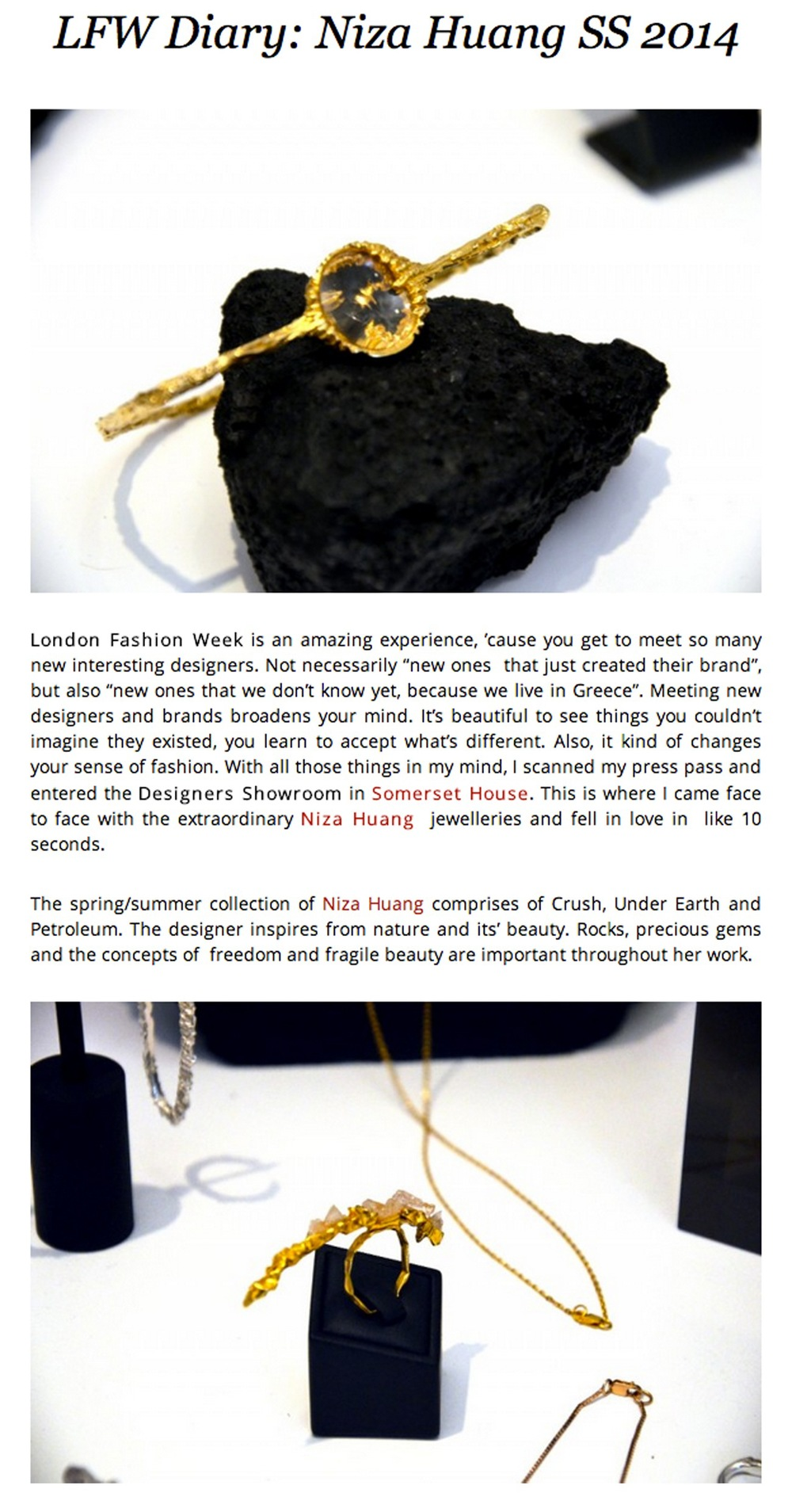 Featured at Smells Like Fashion  http://  www.smellslikefashion.com/  en/2013/09/  lfw-diary-niza-huang-ss-201  4/