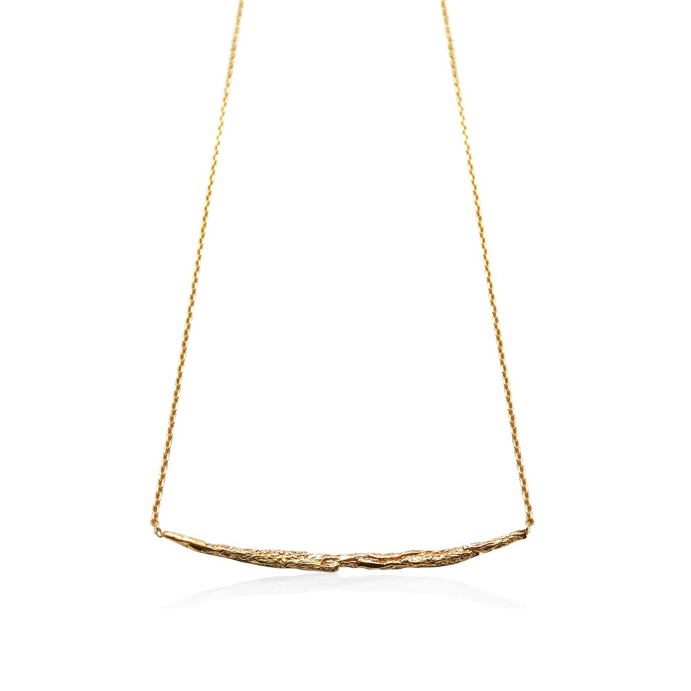 Niza Huang: Illusion Long Stick Necklace - Gold | Jewelry > Necklaces,Jewelry -  Hiphunters Shop