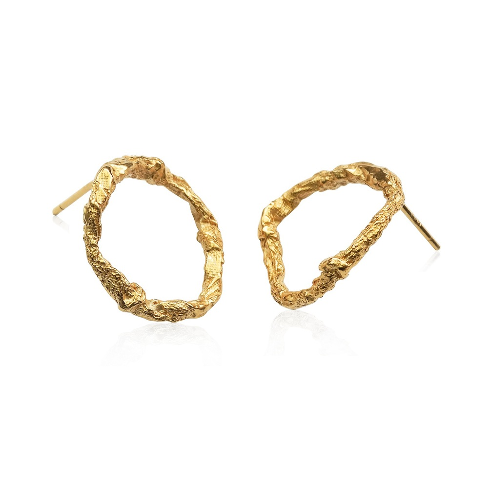 Niza Huang: Illusion Circle Earrings - Gold | Jewelry > Earrings,Jewelry -  Hiphunters Shop