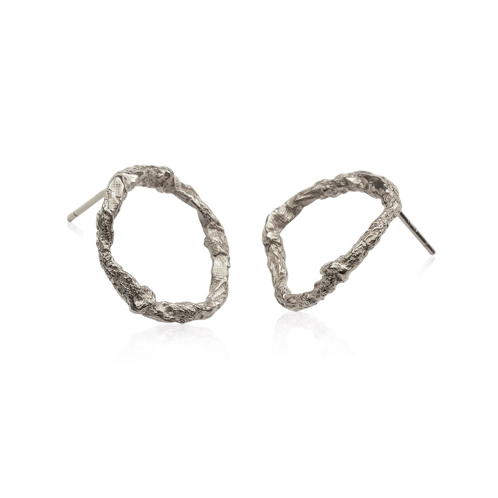 Niza Huang: Illusion Circle Earrings - Silver | Jewelry > Earrings,Jewelry -  Hiphunters Shop