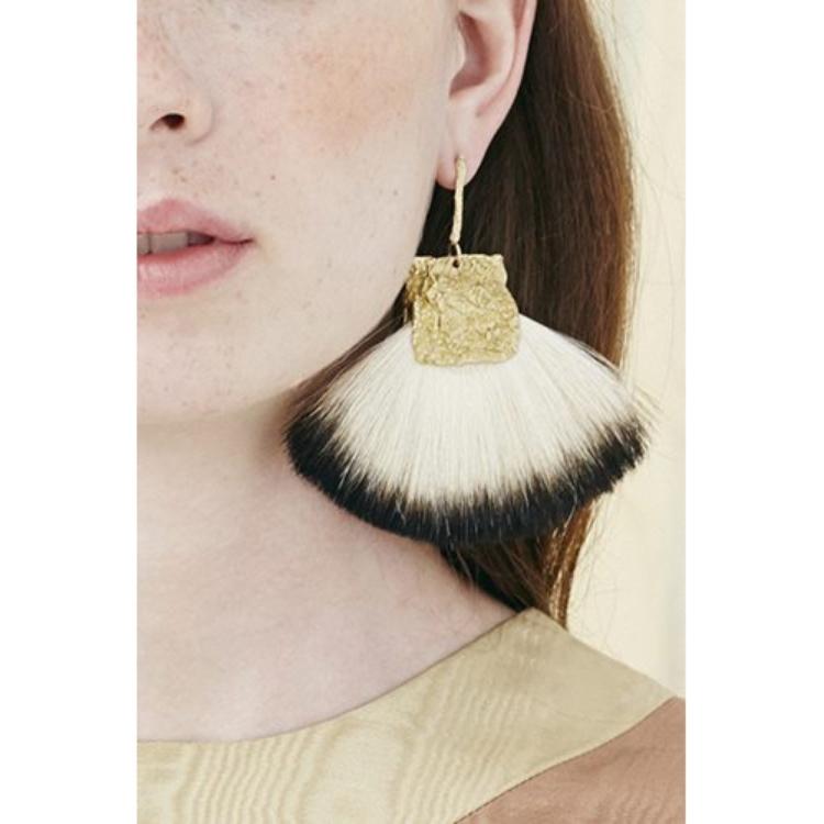 Niza Huang: Canvas Stick Large Fan Brush Earrings | Jewelry > Earrings,Jewelry -  Hiphunters Shop