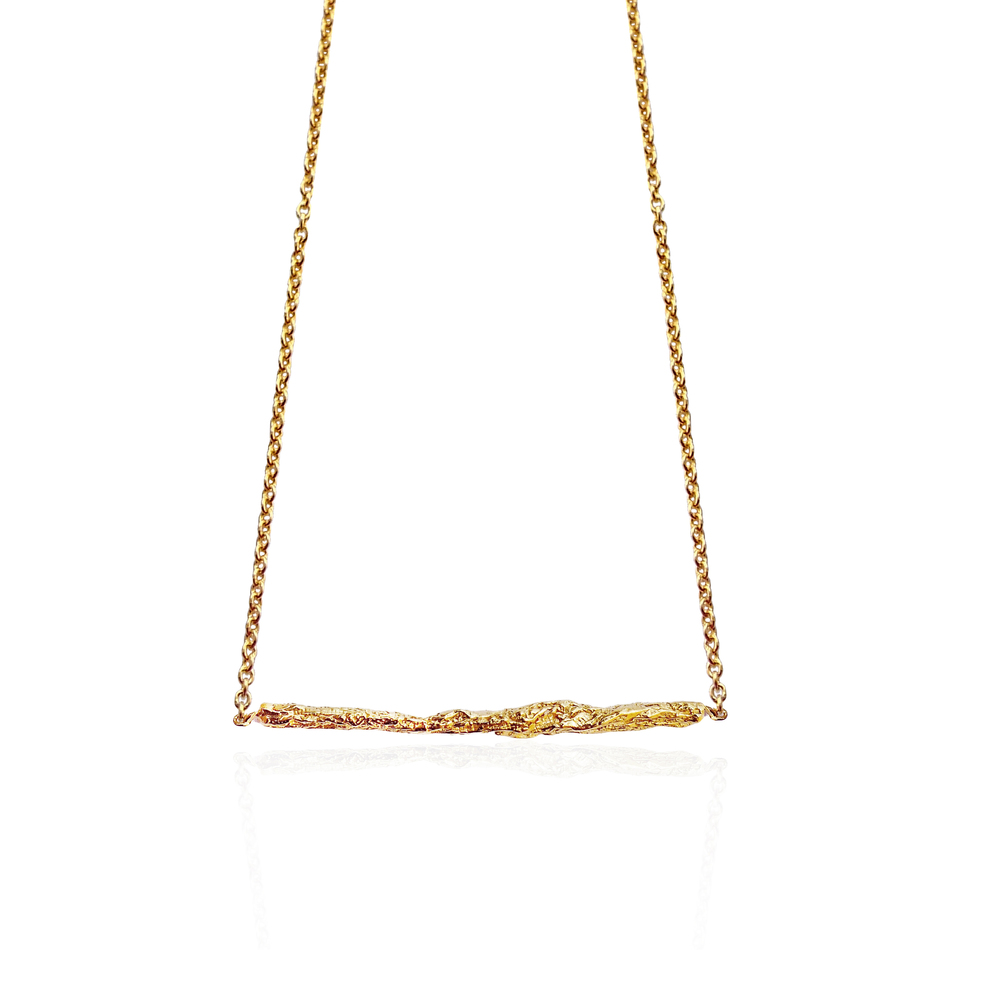 Illusion Medium Stick Necklace - Gold