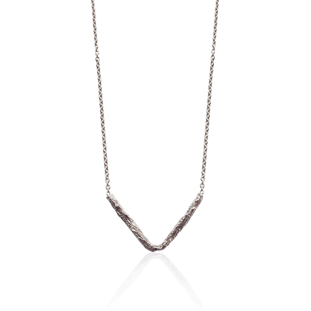 Illusion Pointed Necklace - Silver