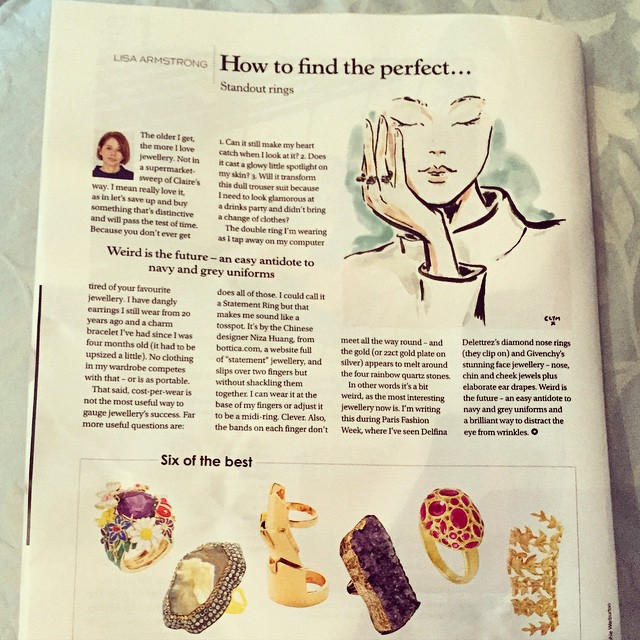 The printed version of Stella Magazine - the Sunday Telegraph. 'Stand out ring' by Lisa Armstrong. 29 March 2015