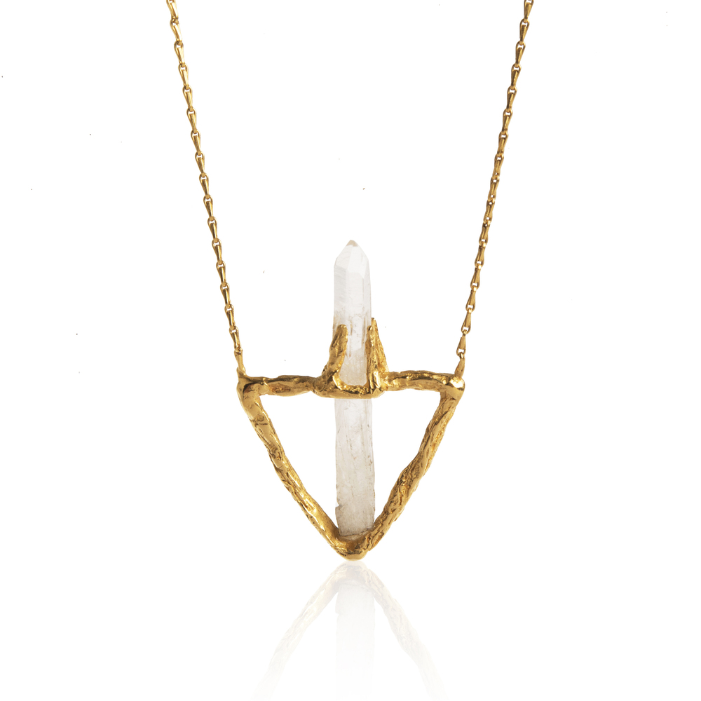 Delta Necklace-Gold
