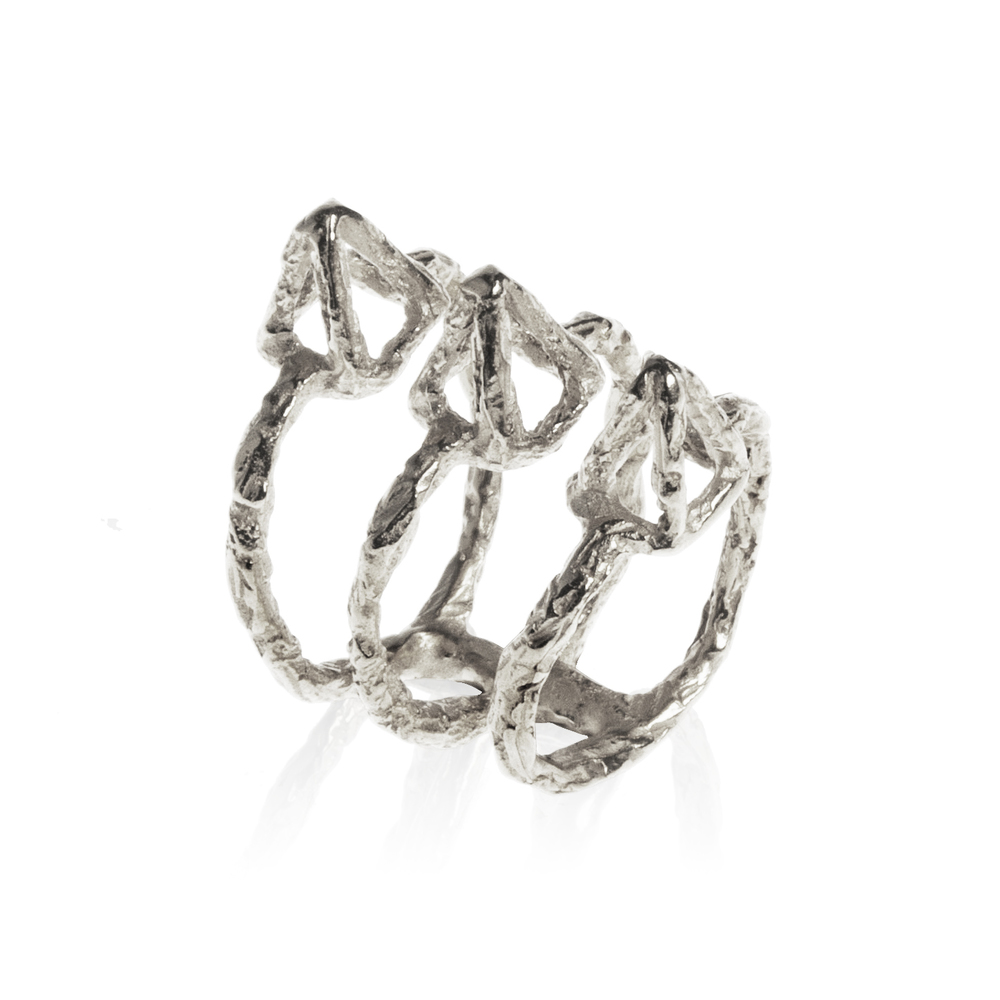 Delta Pyramid Ring-Silver