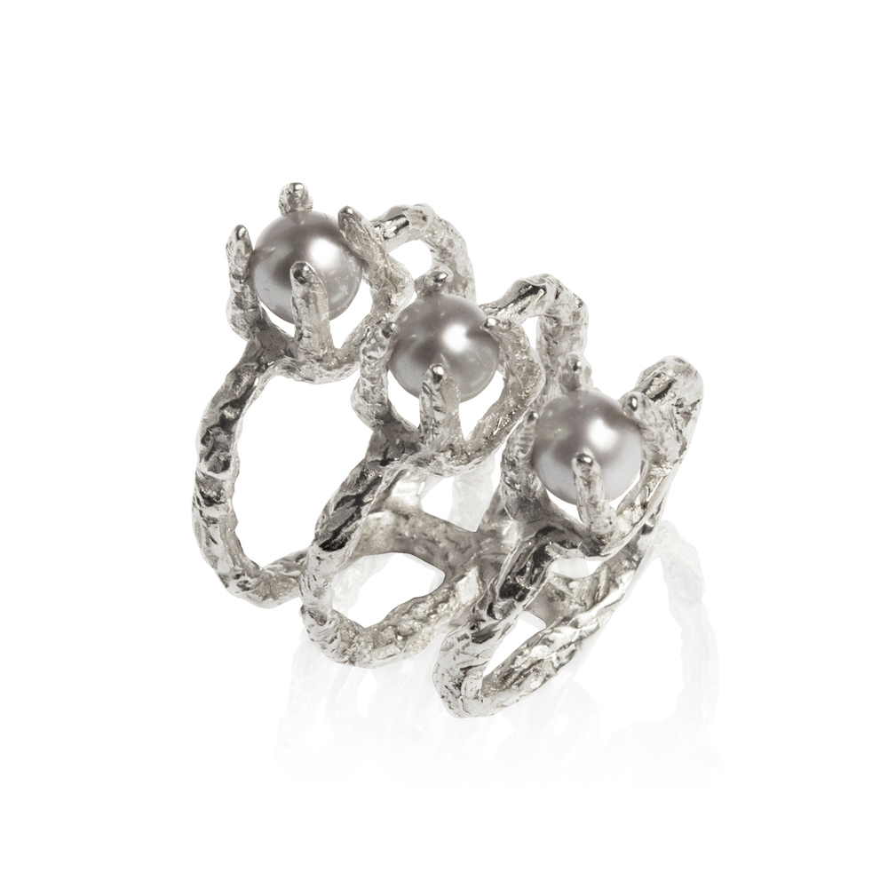 Niza Huang: Delta Pyramid Ring-Silver | Jewelry > Rings,Jewelry -  Hiphunters Shop