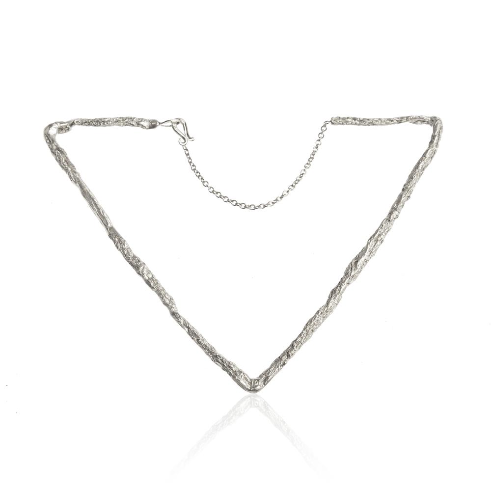 Delta Triangular Bracelet - Silver
