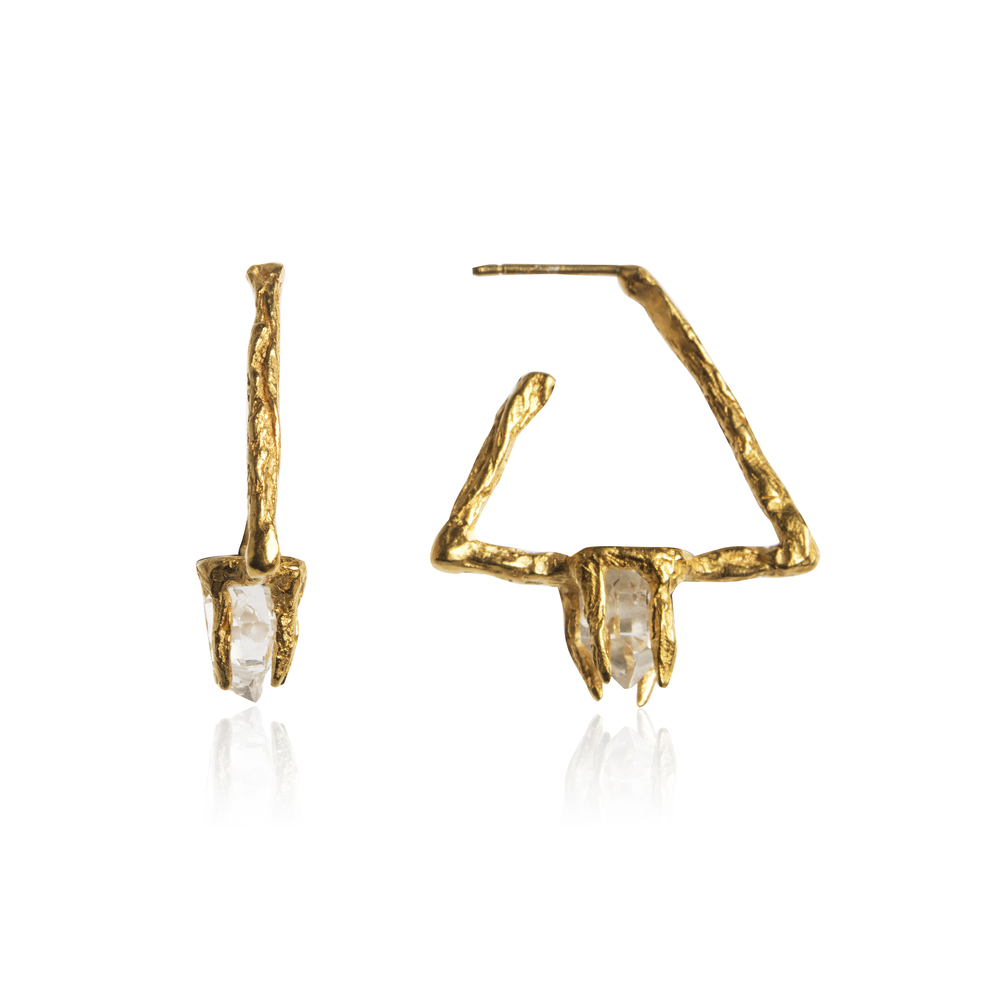 Niza Huang: Delta Earrings - Gold | Jewelry > Earrings,Jewelry -  Hiphunters Shop