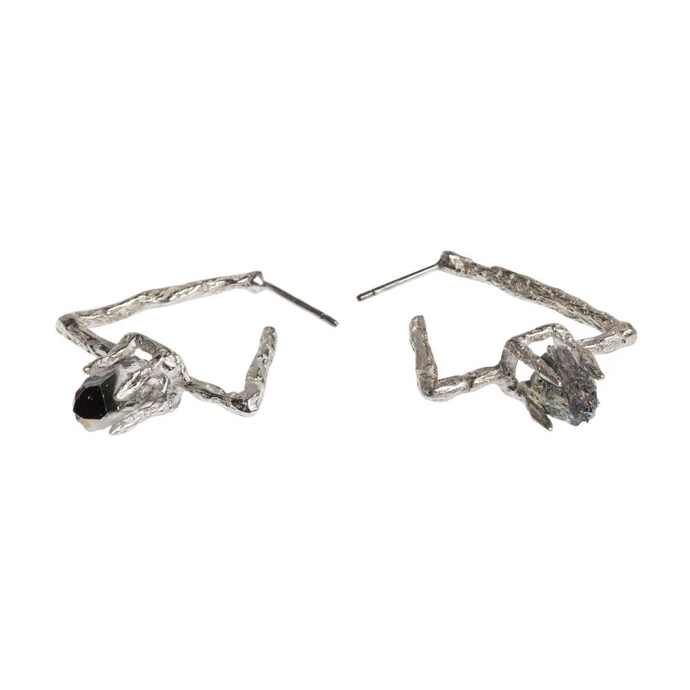 Niza Huang: Delta Earrings - Silver | Jewelry > Earrings,Jewelry -  Hiphunters Shop