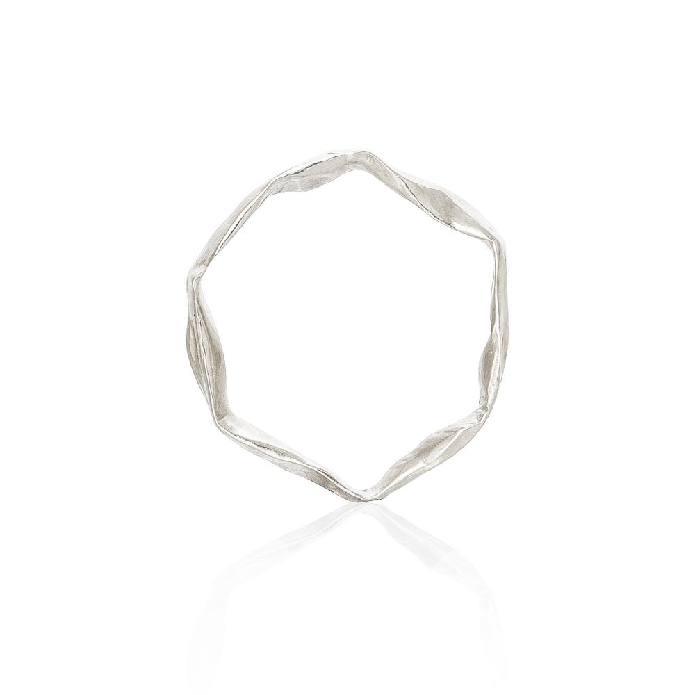 Crush Plain Band - Silver