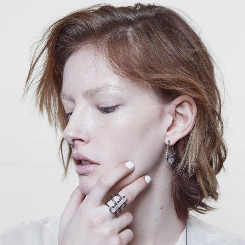 Niza Huang: Delta Earrings - Black | Jewelry > Earrings,Jewelry -  Hiphunters Shop
