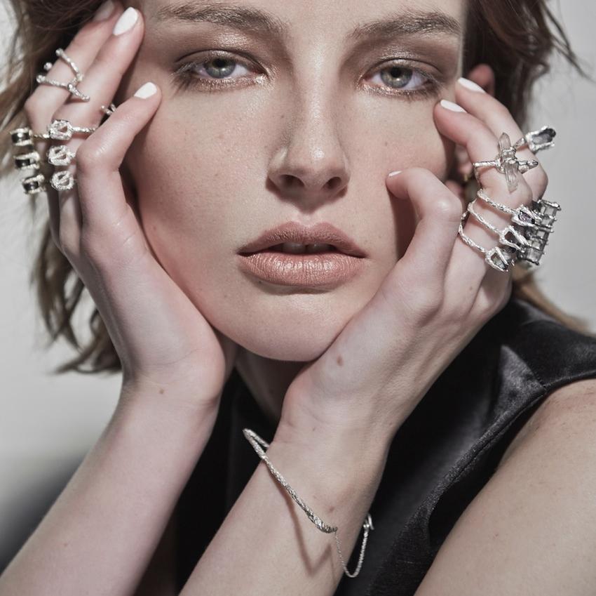 Niza Huang: Delta Triangular Bracelet - Silver   Jewelry > Bracelets,Jewelry -  Hiphunters Shop