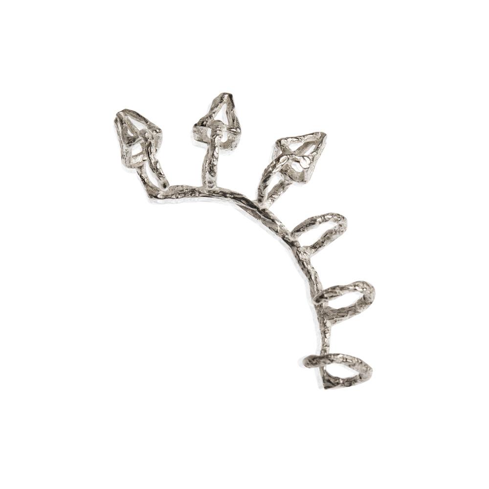 Niza Huang: Delta Ear Cuff - Silver   Jewelry > Earrings,Jewelry -  Hiphunters Shop