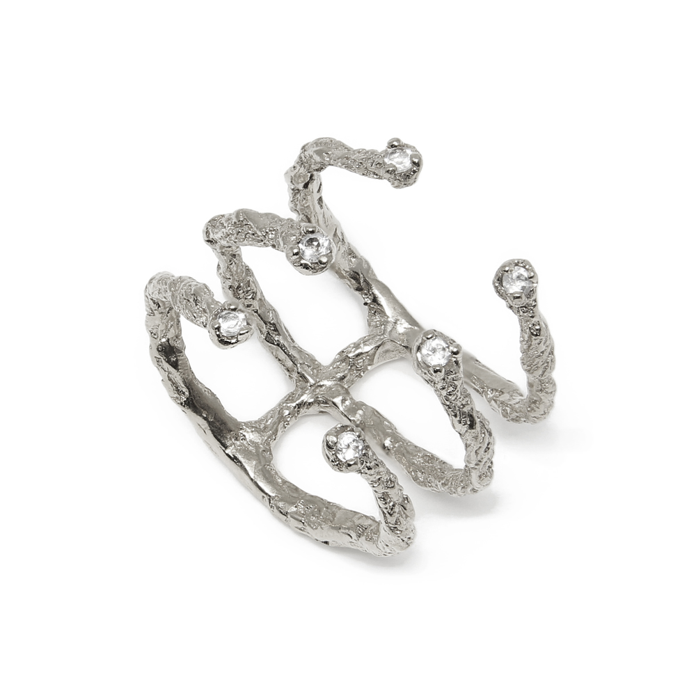 Niza Huang: Moments 6 Stones Ring - Silver | Jewelry > Rings,Jewelry -  Hiphunters Shop