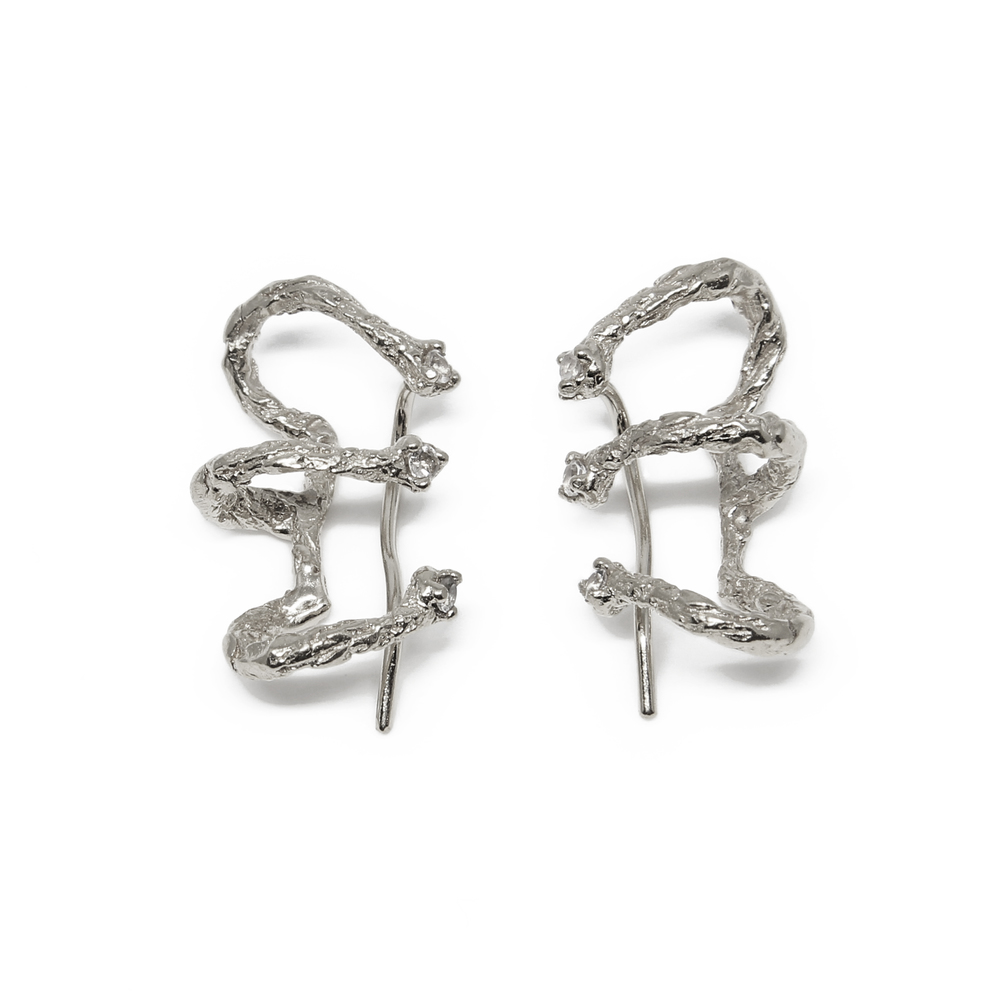 Niza Huang: Moments Climber Earrings - Silver | Jewelry > Earrings,Jewelry -  Hiphunters Shop