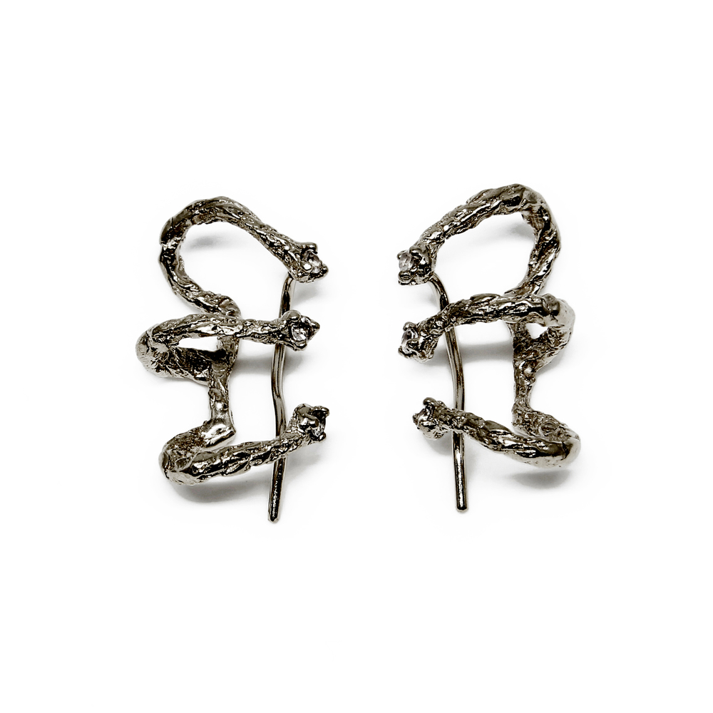 Niza Huang: Moments Climber Earrings - Black | Jewelry > Earrings,Jewelry -  Hiphunters Shop