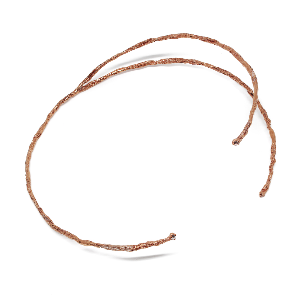 Niza Huang: Moments 3 Stones Choker - Rose Gold | Jewelry > Necklaces,Jewelry -  Hiphunters Shop