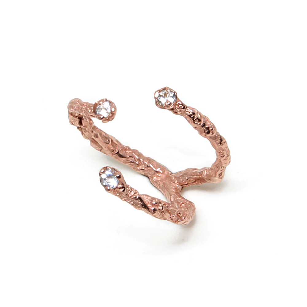 Niza Huang: Moments 3 Stones Ring - Rose Gold | Jewelry > Rings,Jewelry -  Hiphunters Shop