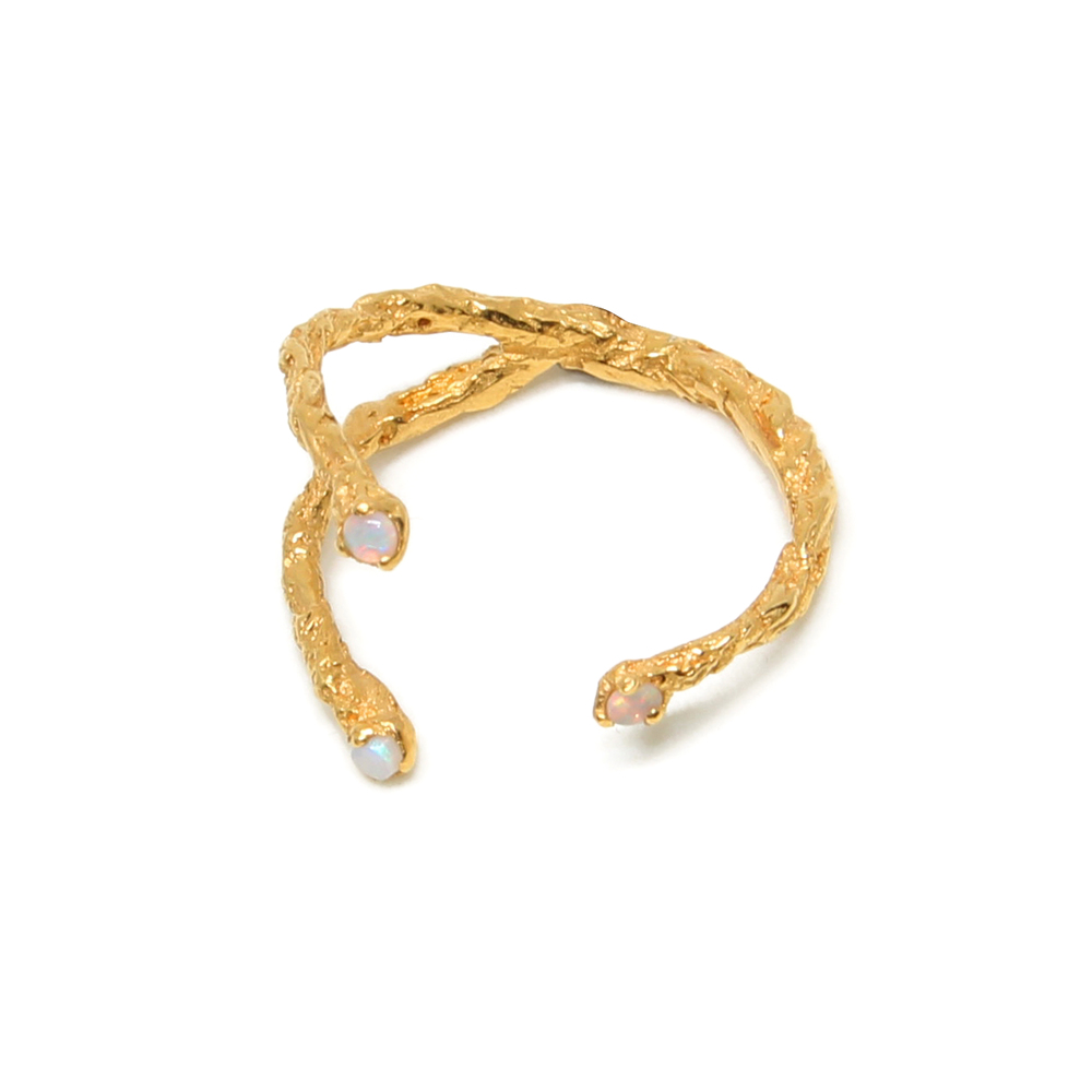 Niza Huang: Moments 3 Stones Ring - Gold | Jewelry > Rings,Jewelry -  Hiphunters Shop