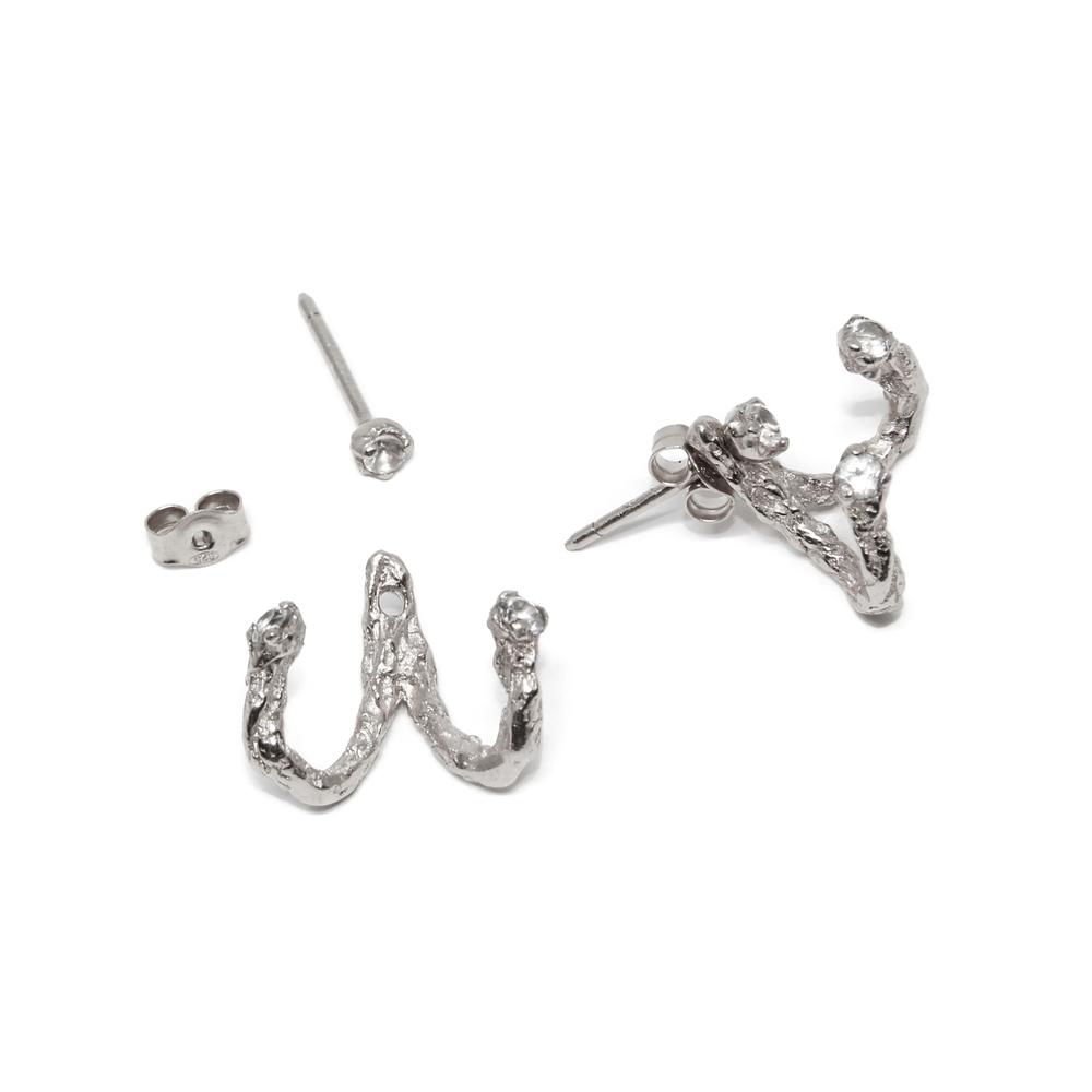 Niza Huang: Moments Jacket Earrings - Silver | Jewelry > Earrings,Jewelry -  Hiphunters Shop