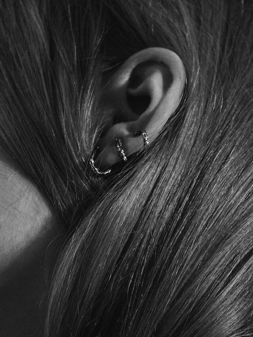 Niza Huang: Moments Climber Earrings - Silver | Jewelry > Earrings,Jewelry -  Hiphunters Shop
