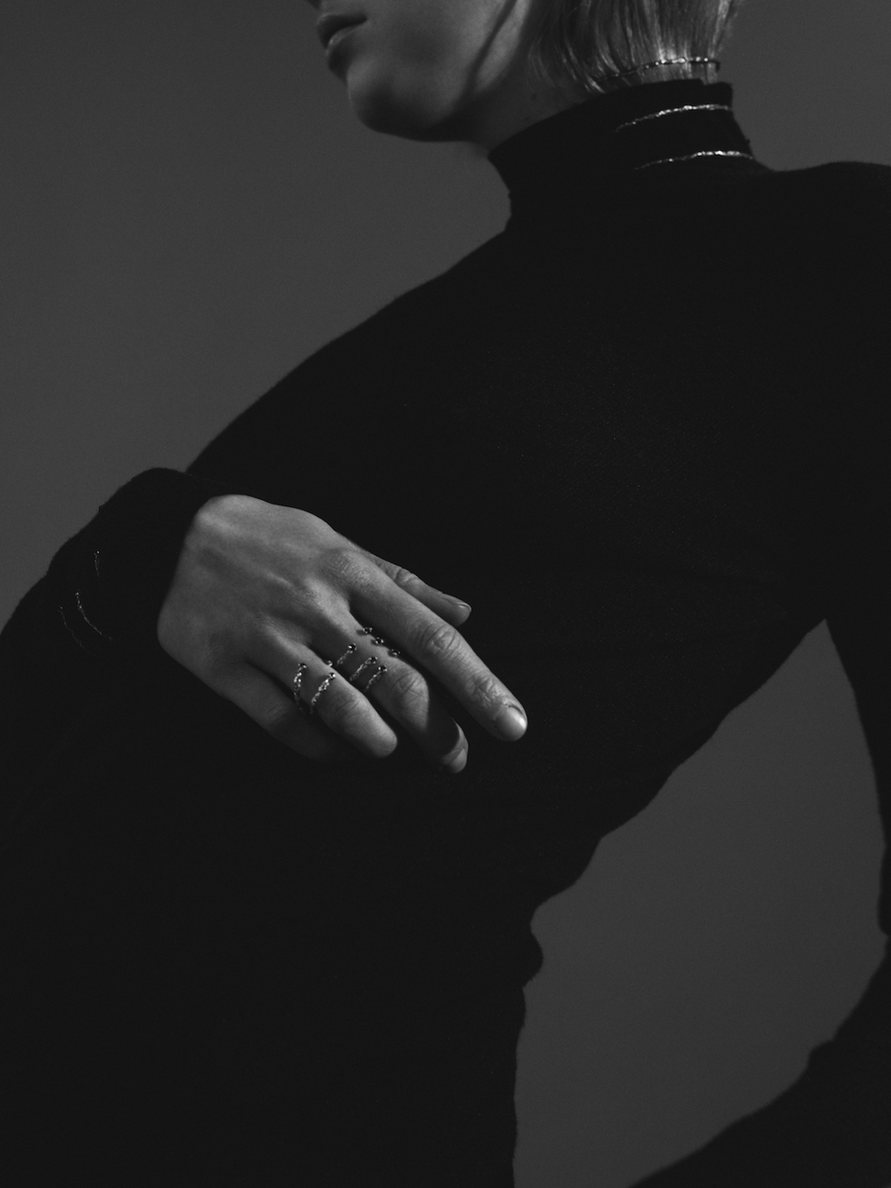 Niza Huang: Moments 6 Stones Ring - Black | Jewelry > Rings,Jewelry -  Hiphunters Shop