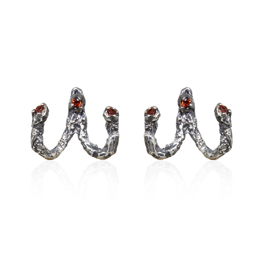 Niza Huang: Moments Jacket Earrings - Black | Jewelry > Earrings,Jewelry -  Hiphunters Shop