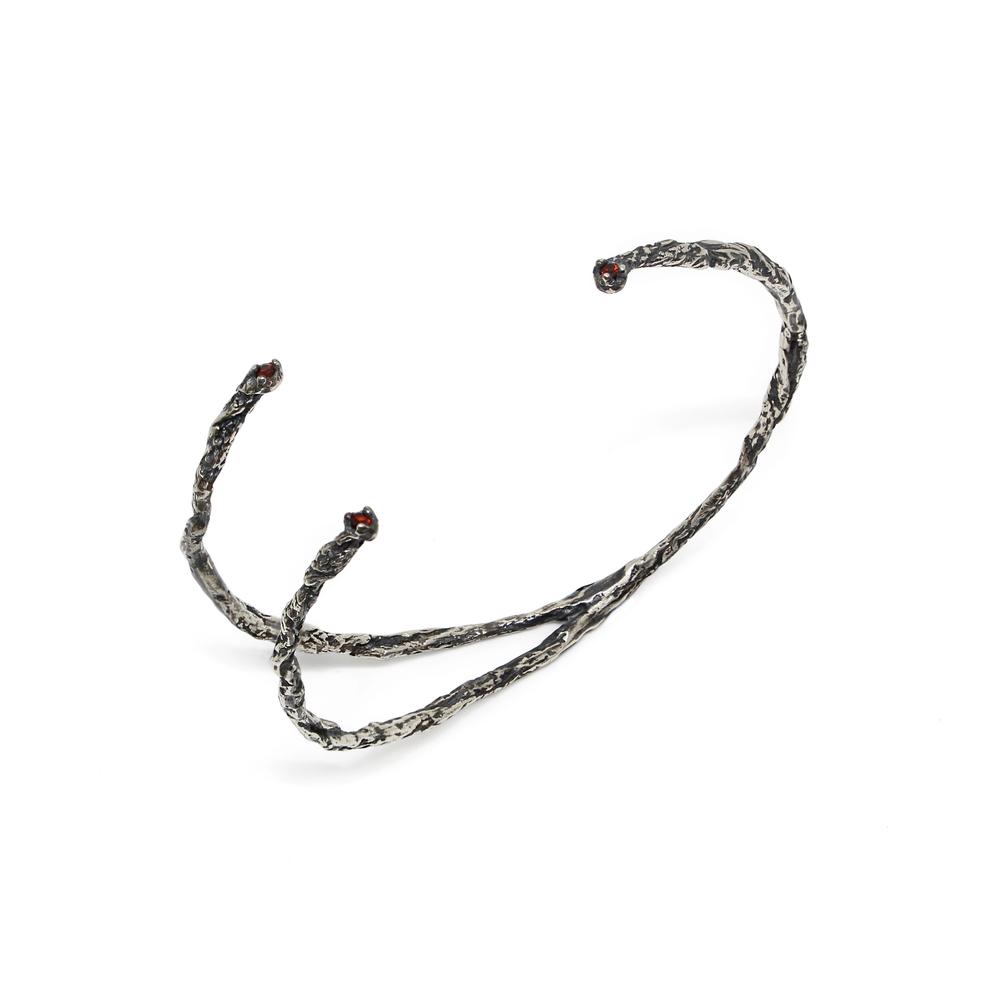 Niza Huang: Moments 3 Stones Bangle - Black   Jewelry > Bracelets,Jewelry -  Hiphunters Shop