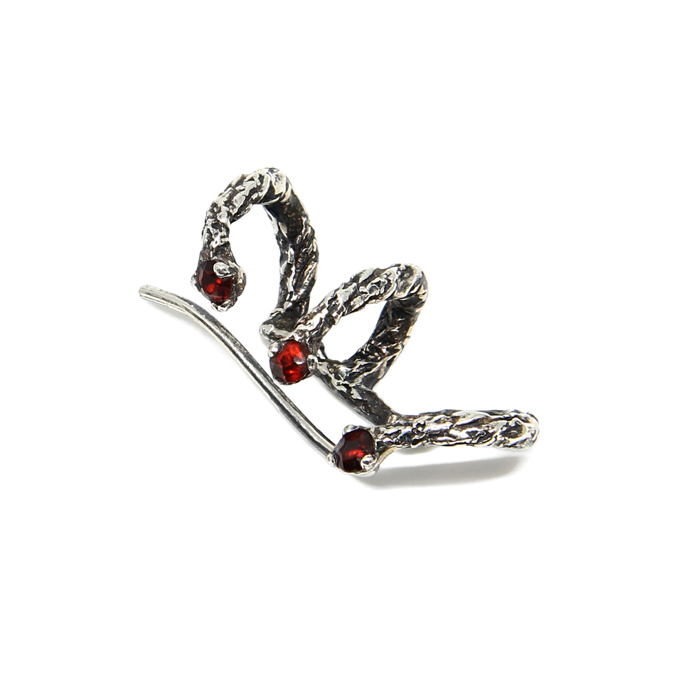 Niza Huang: Moments Climber Earrings - Black   Jewelry > Earrings,Jewelry -  Hiphunters Shop