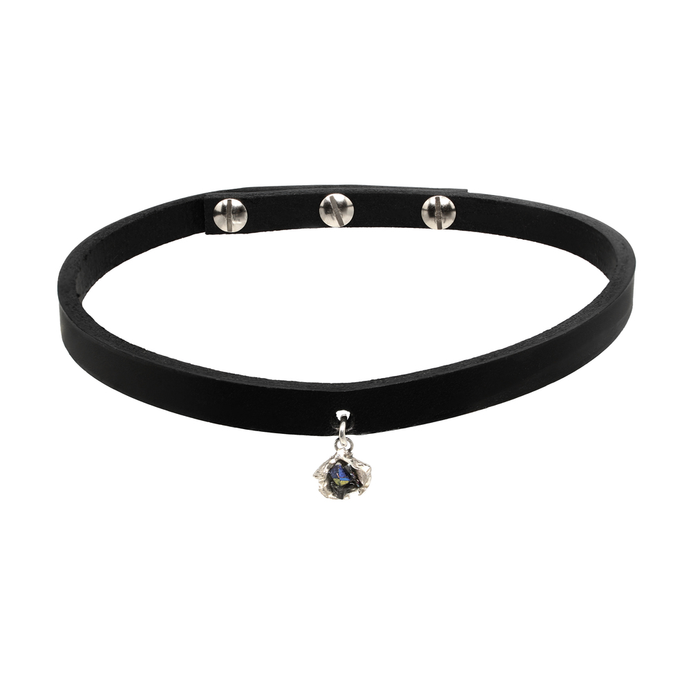 Niza Huang: Crush Leather Choker | Jewelry > Necklaces,Jewelry -  Hiphunters Shop