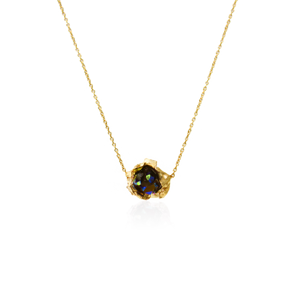 Niza Huang: Crush One Stone Necklace - Gold | Jewelry > Necklaces,Jewelry -  Hiphunters Shop