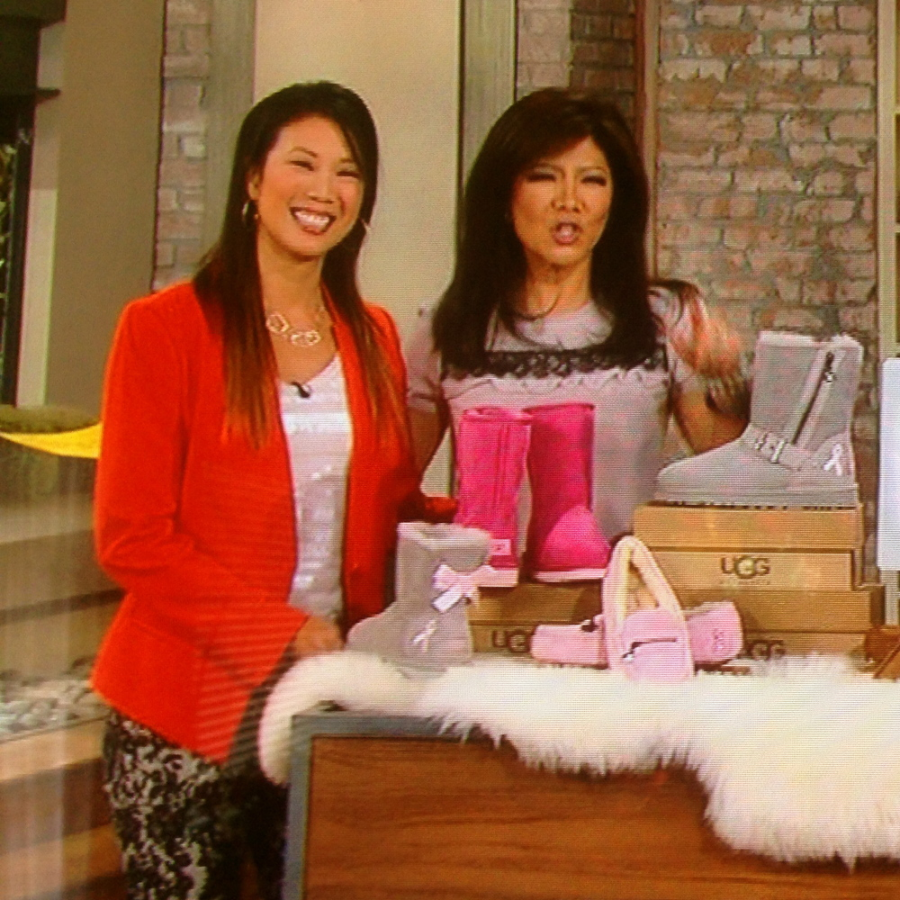 Chi-Lan Lieu is wearing our Geo Dimension necklace on The Talk at CBS with Julie Chen on October 27, 2013