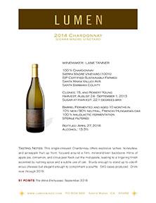 Sierra Madre Chardonnay Tech Sheet