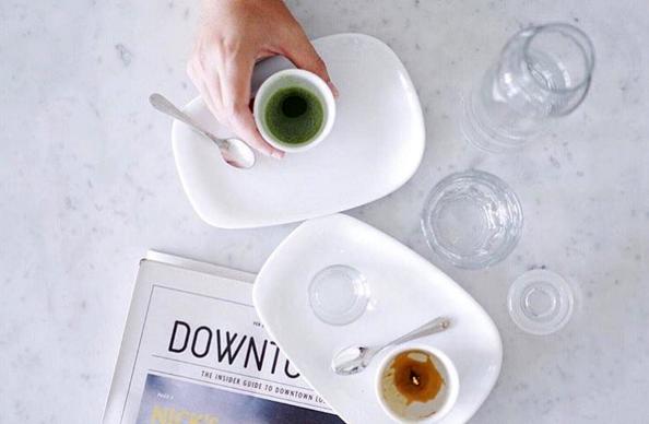 Eightfold coffee shop—share a coffee (or a matcha latte).