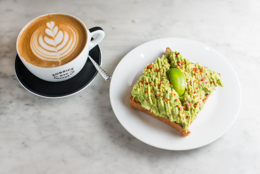 Avocado toast at Kobrick Coffee Co. in NYC. | City Brewed