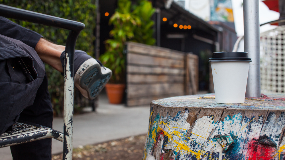 """Hang outside in the """"Hoover Wilderness""""at LA's trendy Cafecito Organico."""