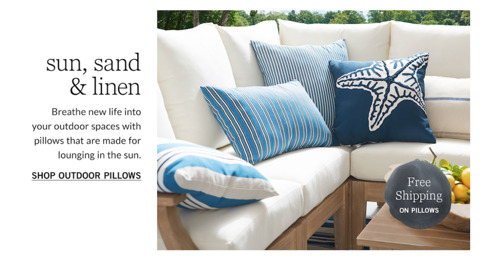 POTTERY BARN WEB COPY: HOMEPAGE, FEATURES, AND SUPERCATS