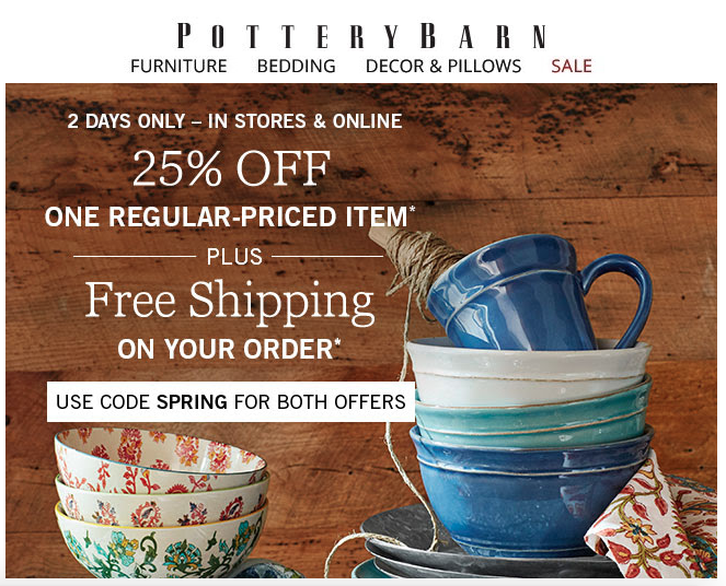 POTTERY BARN EMAIL COPYWRITER & EDITOR