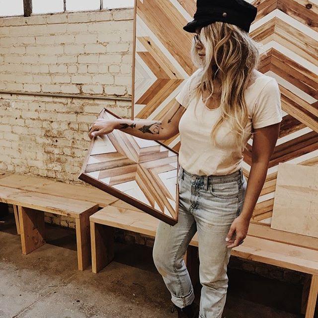Saturday inspiration: Oakland-based artist @AleksandraZee gives us an inside look at her day - grab your coffee and head to CityBrewed.com! ☕️ . . . . #interiordesign #woodworking #artistprofile #aleksandrazee #art #artpiece #craftsmanship #handmade #california #adventure #madeinusa #lines #joshuatree