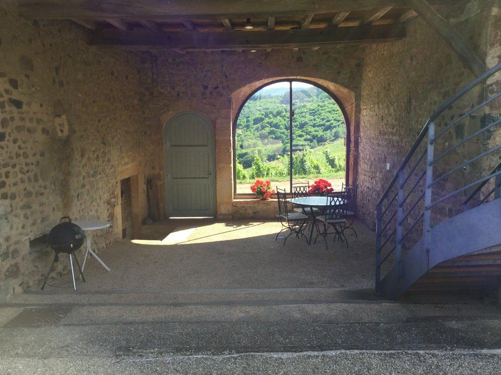 Gîte sitting area